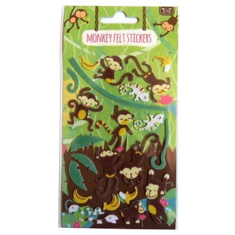 Monkey Felt - Monkey Felt Stickers - Create Your Own Scene - Art, Crafts, Room Decoration