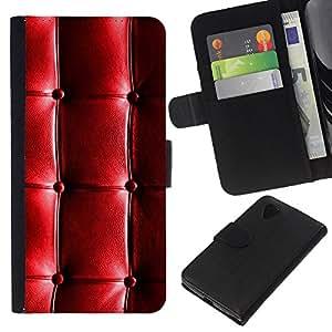 KLONGSHOP // Tirón de la caja Cartera de cuero con ranuras para tarjetas - Cuero del patrón brillante arrugas arrugada - LG Nexus 5 D820 D821 //