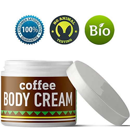 Coffee Body Lotion For Cellulite Slimming Firming Skin Tightening Anti-Aging Natural Skin Care Cream With Caffeine Shea Butter Coconut Argan Oil Body Sculpting Dry Skin Moisturizer For Smooth Skin (Coffee Cream Smooth)