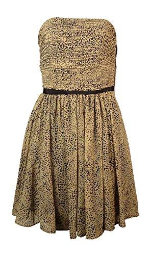 cheetah print strapless dress - 1