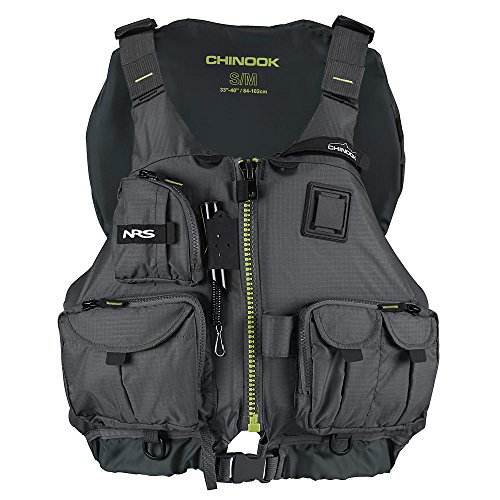 NRS Chinook Fishing PFD Charcoal Black L XL