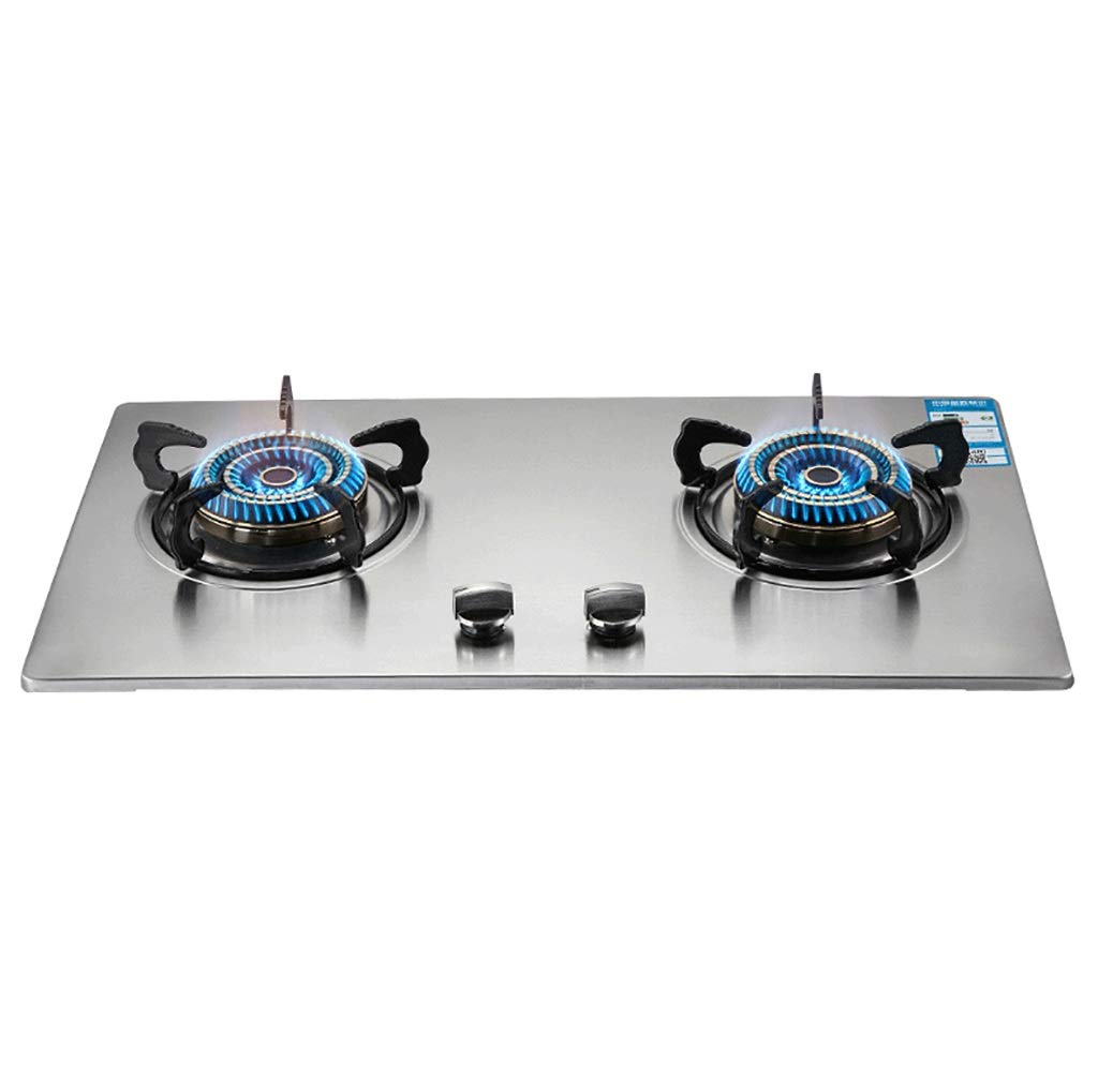 LQ-Stoves Gas Cooktops, Kitchen Energy-Saving Aluminum Alloy 2 Burner Cooker, Built-in, cooktop Dual-use Natural Gas Cooktops Size: 730410mm by LQ-Stoves