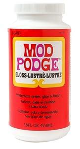 Mod Podge Waterbase Sealer, Glue and Finish (16-Ounce), CS11202 Gloss Finish