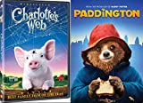 Paddington Bear & Charlotte's Web - DVD 2 Movie Combo Family Pig kid fun set