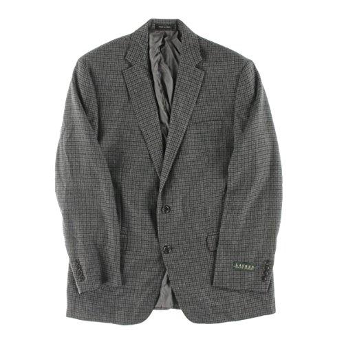 Ralph Lauren Mens Blazer (Lauren by Ralph Lauren Mens Wool Plaid Sportcoat Gray 44)