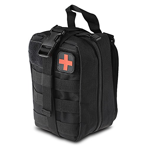 MOLLE Utility Pouch - Medical First Aid Kit Utility Pouch - 600D EMT Pouch Bag Multifunction Nylon Tactical Molle Pouch For Hiking Riding Camping Outdoor Sports Black