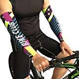 iMakcc High Performance Athletic Arm Sleeve - Arm Cooling Sleeves UV Sun Protection - Men & Women - Premium Compression (L, Multicolor)