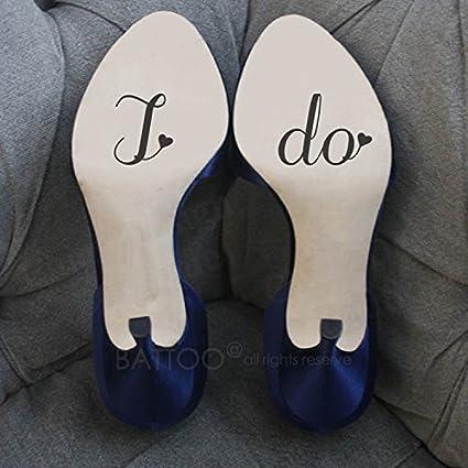 ef57b17e0b653 Amazon.com: BATTOO Wedding Shoe Decals Shoe Stickers, Wedding Decals ...