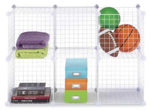 Storage Cubes Set of 6 White Wire