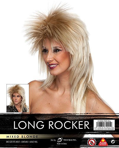 Long Rocker Wig - Mixed Blonde -