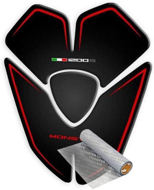 Tankpad Für Ducati Monster 1200 S 2015 2019 Schwarz Rot Auto