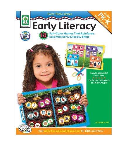 CARSON DELLOSA Early Literacy Full Color Photo Game