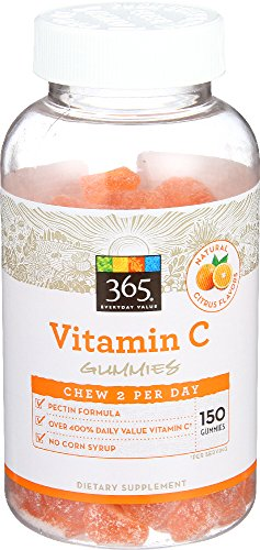 365 Everyday Value, Vitamin C Gummies, Citrus Flavors, 150 ct 51f1T8D9HCL
