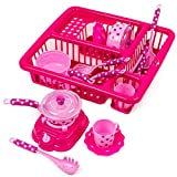 Toysery Pretend Play Kitchen Set Fun Cooking Toy Set for Children Girls Boys With Cooking Accessories And Drainer