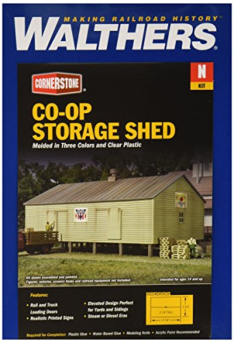 """Price comparison product image Walthers,  Inc. Op Storage Shed Kit,  4-1 / 4 X 2-3 / 4 x 2-1 / 4"""" 10.6 X 6.8 X 5.6cm"""