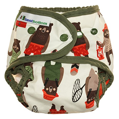 Best Bottom Snap Cotton Diaper, Brawny Bears