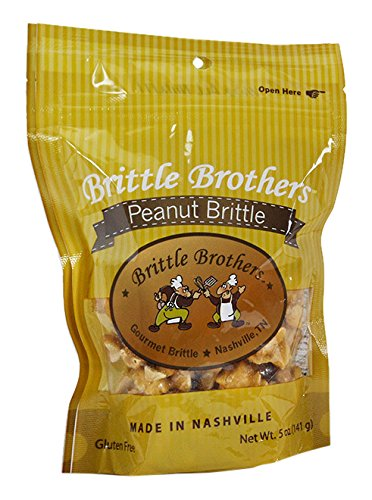 Brittle Brothers Peanut Brittle, 5 Ounce Artificial Peanut Brittle