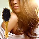 Detangling Brush Natural Detangler Comb For All Hair Types To Detangle And Smooth Knots Easily Best Wet Brush Or For Dry Hair Styling Straightening And No Pain Glide Thru Men Women And Kids