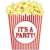 Amscan Party Supplies Movie Night Large Novelty Invitations, Multi