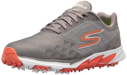Skechers Men's Go Golf Blade 2 Golf Shoe, Charcoal/Orange, 7.5 M US