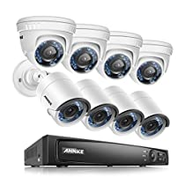 ANNKE 8CH 1080P CCTV HD-TVI H.264 Realtime DVR Security Camera System 1TB HDD included With (8)HD 1080P Security Cameras,Weatherproof IP66,Night Vision, Remote Access and More