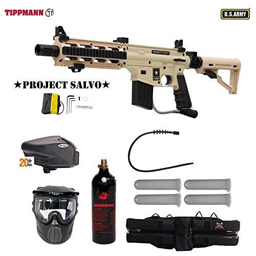 MAddog Tippmann Project Salvo Gold Paintball Gun Package - Tan ()
