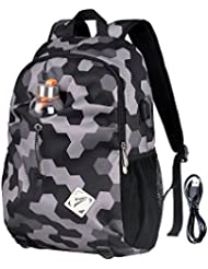 Vbiger School Backpack Student Backpack Schoolbags with Charging Port for Middle School