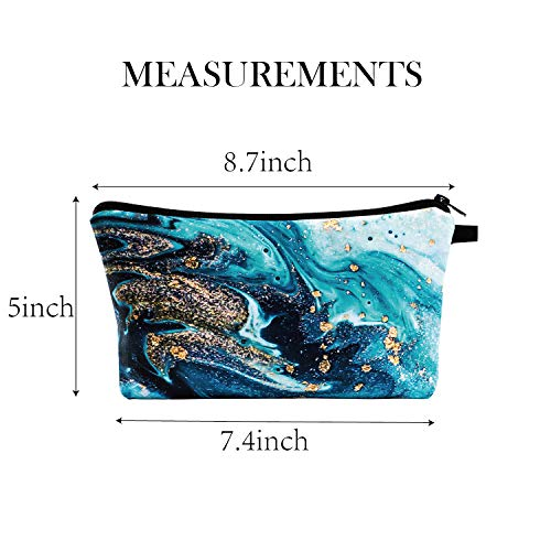 Pack of 3 Cosmetic Bags for Women Functional Makeup Bags Small Travel Bags Toiletries Case Durable Waterproof Bags Accessories Organizer Fashion Women Gifts (Style C)