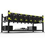Professional 8 GPU Miner Case Aluminum Stackable Mining Case Rig Open Air Frame for Ethereum(ETH)/ETC/ZCash Excellent air Convection Design to Improve GPU Performance and Life(Without Fans)