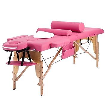Amazon.com: Mesa de masaje masaje cama spa altura ajustable ...