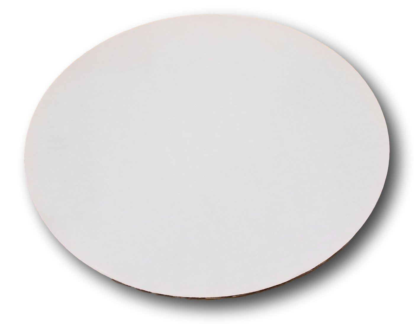 12'' Corrugated Sturdy White Cake/Pizza Circle by MT Products (15 Pieces)
