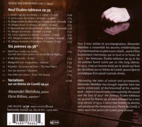 Etudes Tableaux Op 39 Corelli Variations