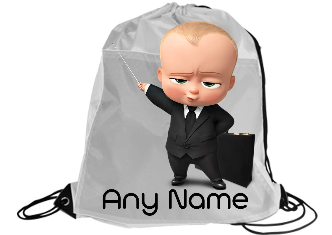 Boys Boss Baby Personalised Any name gym/dancing/swimming/school/football drawstring bag backpack gymsac