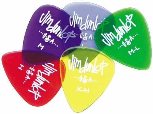 Dunlop 4860 Gels Guitar Picks Display Jar - 1,008 Picks by Jim Dunlop