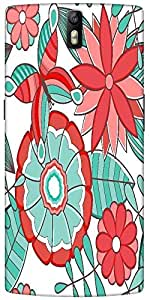 Snoogg Abstract Floral Background Designer Protective Back Case Cover For One...
