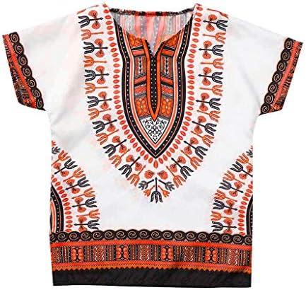 Lofbaz Unisex Dashiki Stampa Tradizionale Africana Camicia Hippy