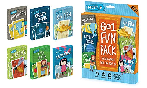 (Hoyle Kid's 6 in 1 Fun Pack- Card Games (artwork may)