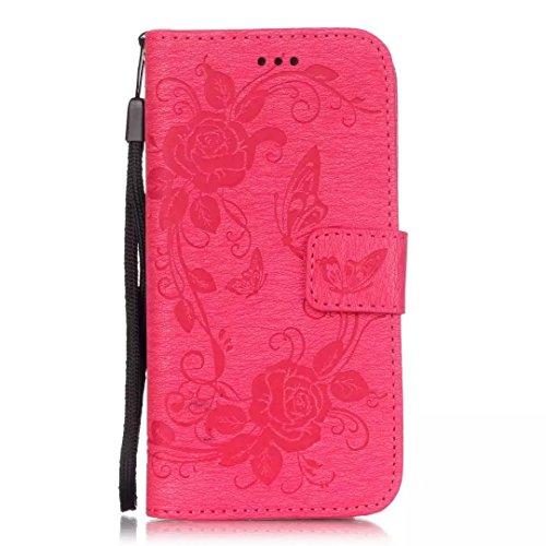 JIALUN-carcasa de telefono Con la ranura para tarjeta, cordón, presión Hermoso patrón de moda abrir el teléfono celular Shell para IPhone 6 6 6,7 pulgadas ( Color : Brown , Size : IPhone 6S 6 ) Rose