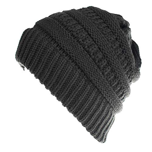 CHIDY Men Women Cute Trend Solid Color Warm Cap Wool Knit Ski Beanie Skull Slouchy Hat Unisex