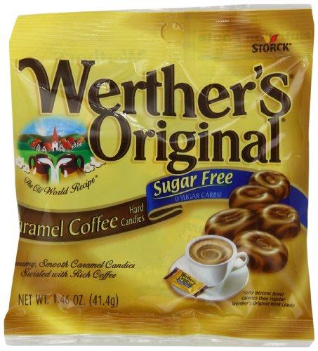 WERTHER'S ORIGINAL Sugar Free Caramel Coffee Hard Candy,