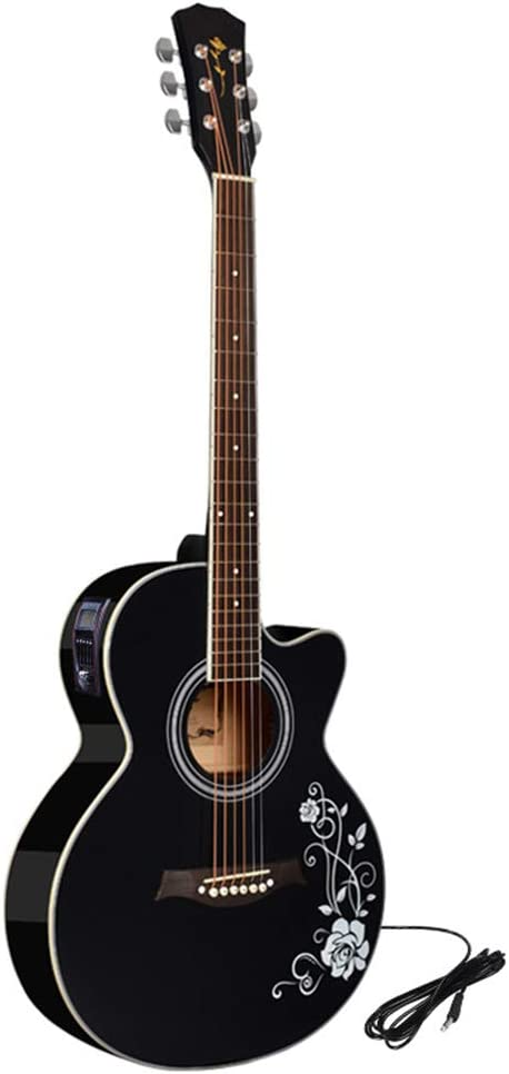Guitarra eléctrica de 40 pulgadas, caja de sonido de madera, caja ...