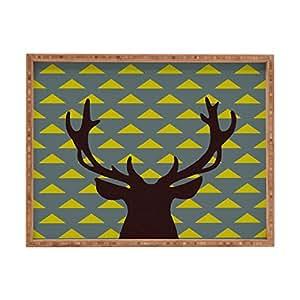 DENY Designs Natt Mountain Deer Rectangular Outdoor Tray, X-Large