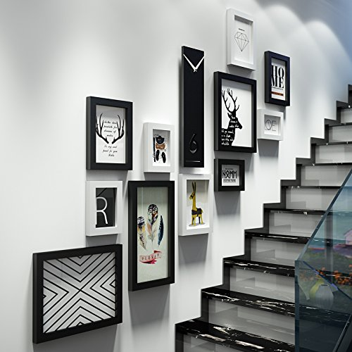 Die Treppe Mauern, umweltfreundliche Materialien foto Wand Foto frame Kombination von kreativen Wohnzimmer WanddekorationFotoDassSchwarz und Weiß