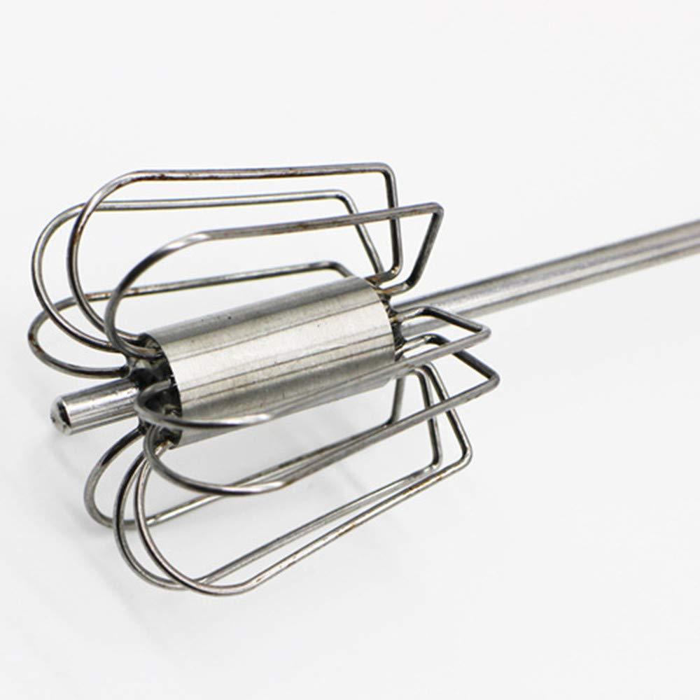 Random Semi-Automatic Whisk Stirrer Mixer Stainless Steel Egg Frother Milk Egg Beater Blender Cooking Kitchen Utensils Tool for Blending Whisking Beating Stirring