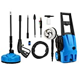 2000 PSI Pressure Washer - SUNGOLDPOWER Electric High Pressure Washer Max 2000PSI 1.56 GPM with (4) Nozzle Adapter with Hose Reel Soap Dispenser Patio Cleaner