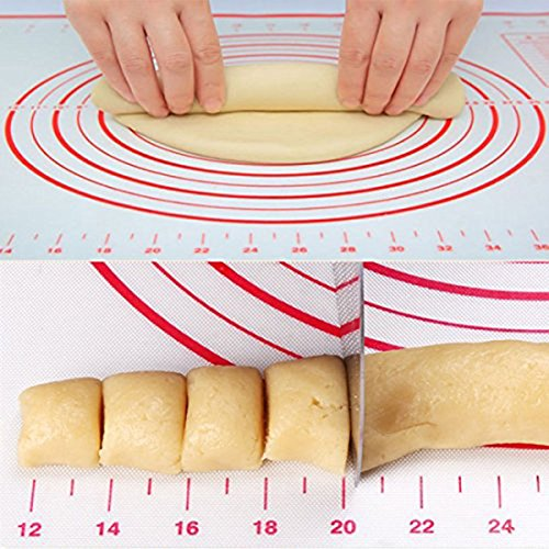 "ZCHING Silicone Pastry Mat with Measurement Not-Slip Rolling Dough Mats for Baking 24"" x 16"" (red) by ZCHING (Image #6)"