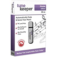 Tune Keeper Portable Flash Drive Music Backup USB Drive 16GB