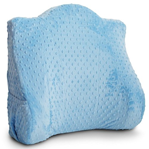 Back Buddy Support Pillow, Bentley (Blue Dot Minky) by Back Buddy