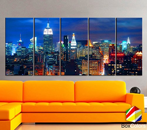 5 panel new york canvas - 3