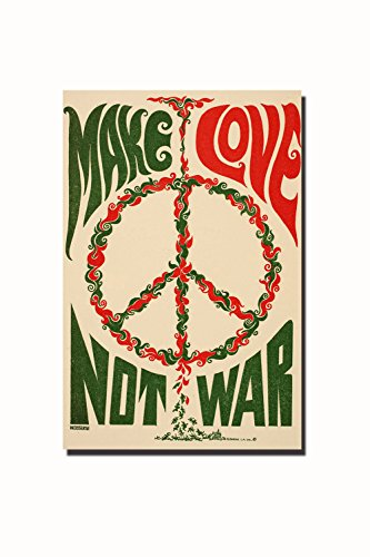 Make Love Not War Art Poster Make Art Not War Art Poster Inspiring Quote Poster Peace Sign Poster Decorative for Home 20